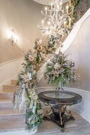 50 stunning christmas staircase decorating ideas style estate christmas foyer entryway by linly designs
