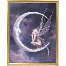 moon u0026 faerie framed print new age spiritual gifts yoga wicca