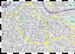 Nashville Airport Map Streetwise Nashville Map Laminated City Center Street Map Of