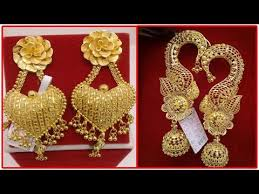 gold earrings design with weight light weight gold earrings designs with weight gold