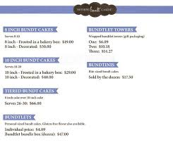 nothing bundt cakes menu menu for nothing bundt cakes littleton