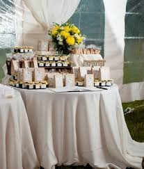wedding table favors a variety of favors including biscotti will make guests happy see