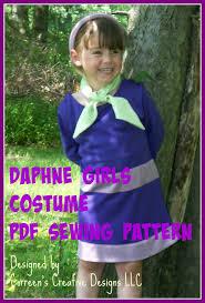 Daphne Scooby Doo Halloween Costume Child U0027s Daphne Costume Sewing Pattern Costume Correenscdesigns