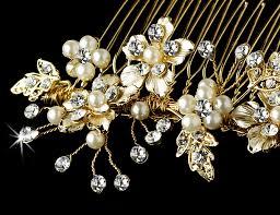 bridal hair combs bridal pearl hair comb accent comb 039 gold adam s