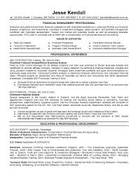 financial resume exles finance resume objective yralaska