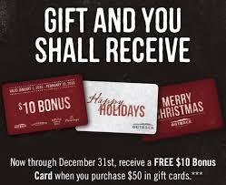 restaurant gift card deals christmas 2016 gift card ideas