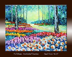 flower garden landscape oil painting tulip garden by nufineart5