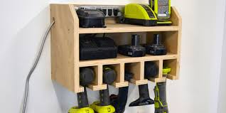 Diy Wood Storage Shelf Plans by How To Build A Storage Dock For Your Cordless Drill