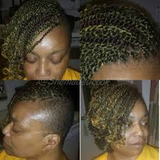 nubian hair long single plaits with shaved hair on sides shaved side short kinky twist protective hair style natural