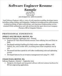 Resume For Software Engineer 30 Modern Engineering Resume Templates Free U0026 Premium Templates