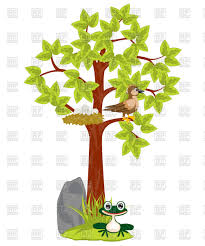 birds sitting on a tree clipart clipartxtras