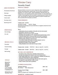 Security Officer Resume Nonsensical Security Guard Resume 10 Security Guard 1 Work Duties