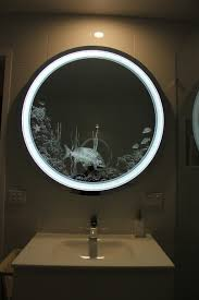 bathroom superb bathroom mirror with backlit lights and floating