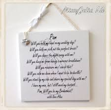 will you be my flower girl gift personalised will you be my bridesmaid of honour wooden
