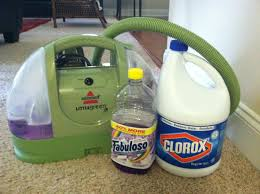 fill the tub with fabuloso and put in a capful of bleach it