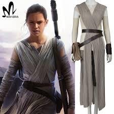 Star Wars Halloween Costumes Adults Aliexpress Buy Star Wars Costume Force Awakens Rey