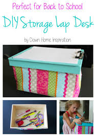 Lap Desk With Storage Compartment Diy Lap Desk With Hidden Storage Down Home Inspiration