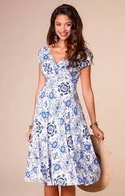 alessandra maternity dress porcelain blue maternity