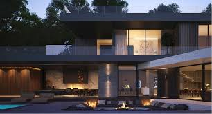 Exterior Unbelievable Design Balcony Lighting by Modern Home Exteriors With Stunning Outdoor Spaces