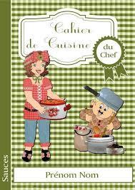 cahier de cuisine page de garde du cahier de cuisine du chef album de pages de scrap