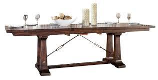 Intercon Furniture Hayden Trestle Dining Table In Rough Sawn - Trestle kitchen table
