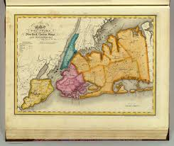 Map Of New York Counties by New York Queens Kings Richmond Counties David Rumsey