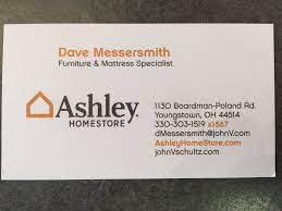 Ashley Furniture Card by Dave Messersmith Dwmess Twitter