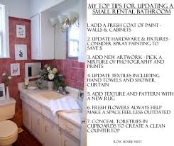 Painting A Small Bathroom Ideas by Updating A Small Rental Bathroom