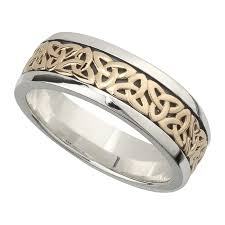 wedding ban wedding band 10k gold and sterling silver mens celtic