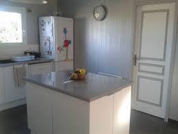 ilot cuisine blanc cuisine gris blanc photo 2 6 avec ilot centrale