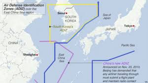 East China Sea Map South Korea Declares New Air Defense Zone Overlapping China U0027s