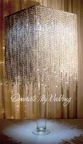Tabletop Chandelier Centerpiece by Wedding Decorations Crystal Rain Waterfall Square Wedding