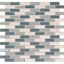 Home Depot Canada Backsplash by Msi Stone Ulc Arctic Ice 1 In X 2 In Glass Mesh Mounted Mosaic