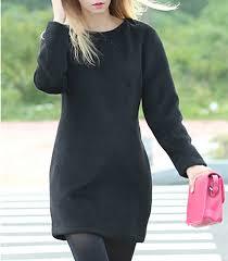 black wool mini dress long sleeves full length zipper side