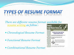 Appropriate Resume Format Appropriate Resume Type