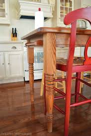 Kitchen Island With Legs Turn Your Kitchen Table Into A Farmhouse Island Exquisitely