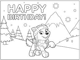 happy birthday paw patrol coloring page paw patrol birthday coloring pages coloring paw patrol coloring page
