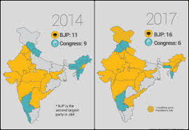 Map Of India States by Bjp Now Rules 16 Of The 29 Indian States U0026 Congress Is Crashing
