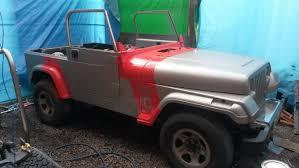 sand jeep wrangler 1995 jeep wrangler yj 4 0l sahara edition jurassic park style
