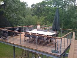 Backyard Deck Plans Pictures by Raised Deck Tokyo Style Cable Railings Images Outdoor Living