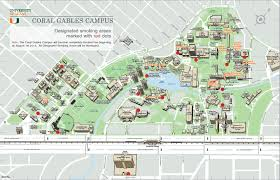 Coral Gables Florida Map by University Of Miami Campus Map My Blog