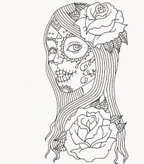 day of the dead coloring page funycoloring