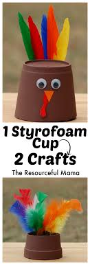 foam cup thanksgiving turkey craft the resourceful
