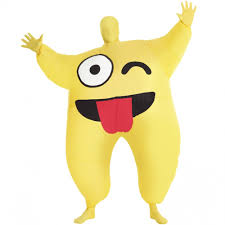 emoji costume cheeky emoji unisex costume 393429