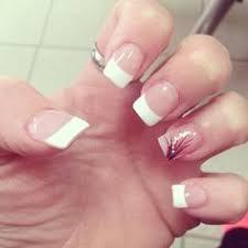 green white french tip nailsss pinterest finger nail art