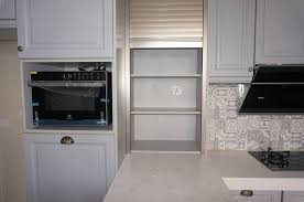 Ab Kitchen Cabinet Solid Nyatoh Wood Fitted With Quartz Top Ab Kitchen Cabinet