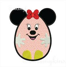 minnie mouse easter egg disney applique machine embroidery designs