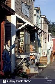 historic front street of small town of coupeville on whidbey