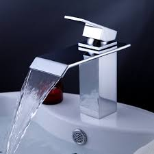 waterfall bathroom faucets bathroom vanity with sink and faucet modern single handle