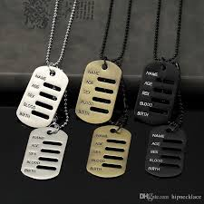 tag necklace mens images Wholesale mens boys hip hop fashion military tag necklace jpg